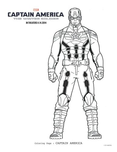 Captain America: The Winter Soldier Free Printable Coloring Page ...