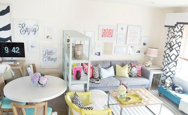 Wohnen Idee pastellfarben idee zum wohnen kleines wohnzimmer essplatz