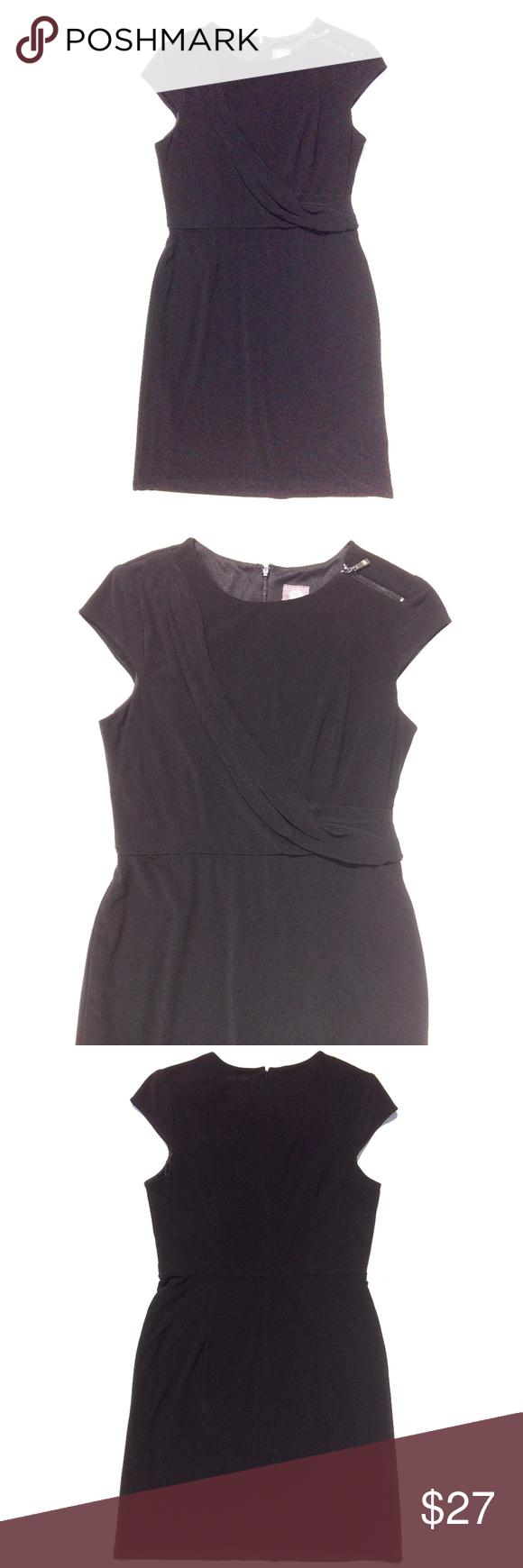 Vince Camuto Black Sheath Dress Size 12 Lbd Black Sheath Dress Sheath Dress Knee Length Skirt [ 1740 x 580 Pixel ]