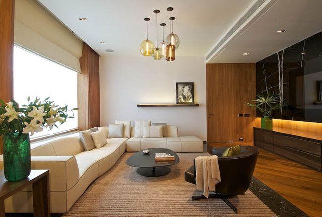 A New Delhi Interior Featuring Niche Modern Glass Pendant Lights By Rajiv  Saini Associates India, Niche Modern, Modern Lighting Part 37