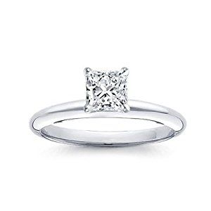 1 Carat Princess Cut Diamond Solitaire Engagement Ring 18K White Gold (J, SI2, 1 c.t.w) Very Good Cut  http://electmejewellery.com/jewelry/wedding-anniversary/engagement-rings/1-carat-princess-cut-diamond-solitaire-engagement-ring-18k-white-gold-j-si2-1-ctw-very-good-cut-com/