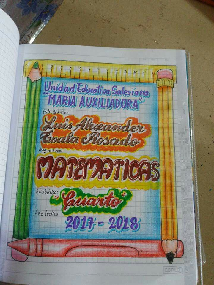 Pin De Diana Piñeiros En Caratulas Cuadernos Escolares