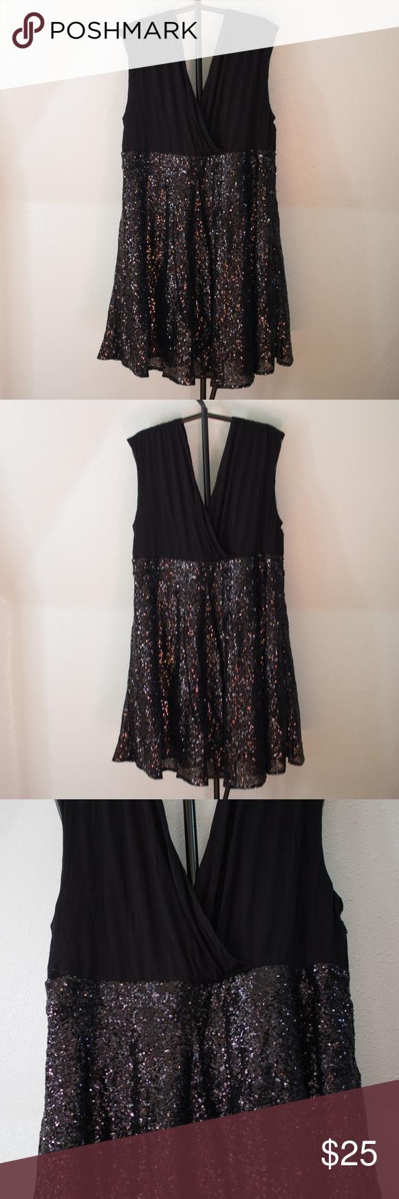 a097bad73cd NWT Torrid Black Sequin Formal Midi Dress Sz 22 Gorgeous all black  sleeveless Torrid midi formal prom dress