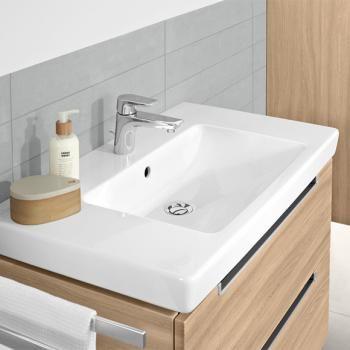 Villeroy U0026 Boch Subway 2.0 Möbelwaschtisch Weiß Mit CeramicPlus Mit 1  Hahnloch   717580R1 | Reuter