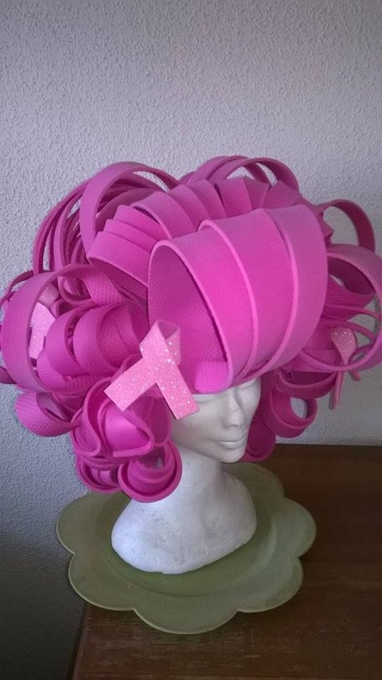 Pink Drag Queen wig for Bigpinkdresser Charity made by Lady ...