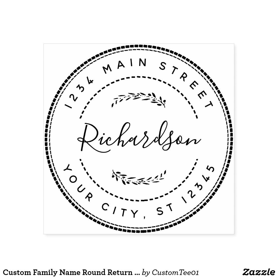 Pin Su Elegant Return Address Rubber Stamps Idea
