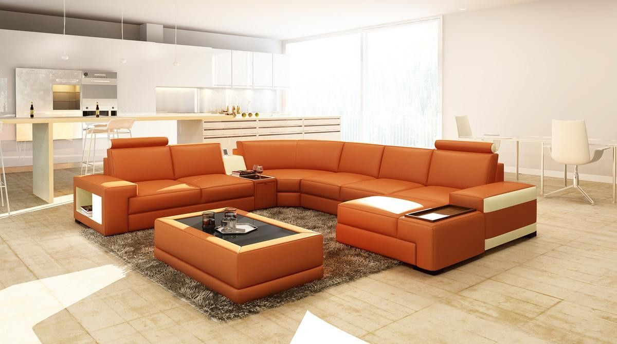 Broyhill Sofa VGEV SP Divani Casa Modern Bonded Leather Sectional Sofa w