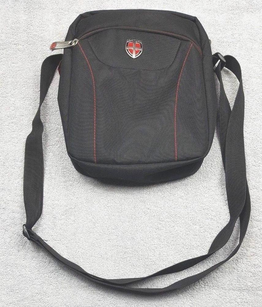 96d89c9c68 Ellehammer Tablet Bag Black Cross Body Padded Flight Travel Messenger Man  Bag #Ellehammer #Crossbody