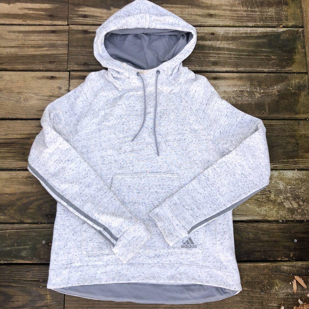 Adidas Cowl Neck Hoodie Sweatshirt Women S Medium Light Heathered Gray Color Good Used Condition Slight Spot On N Sweatshirts Women Hoodies Sweatshirts Hoodie [ 1242 x 1242 Pixel ]