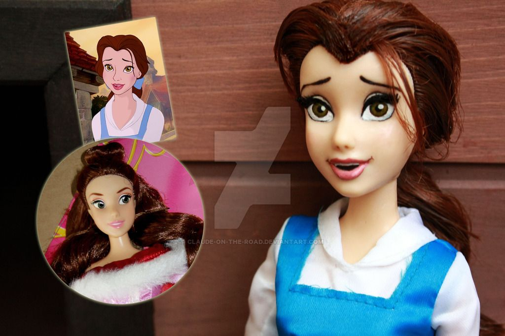 Disney Belle - Doll Repaint | Before-After by claude-on-the-road on DeviantArt