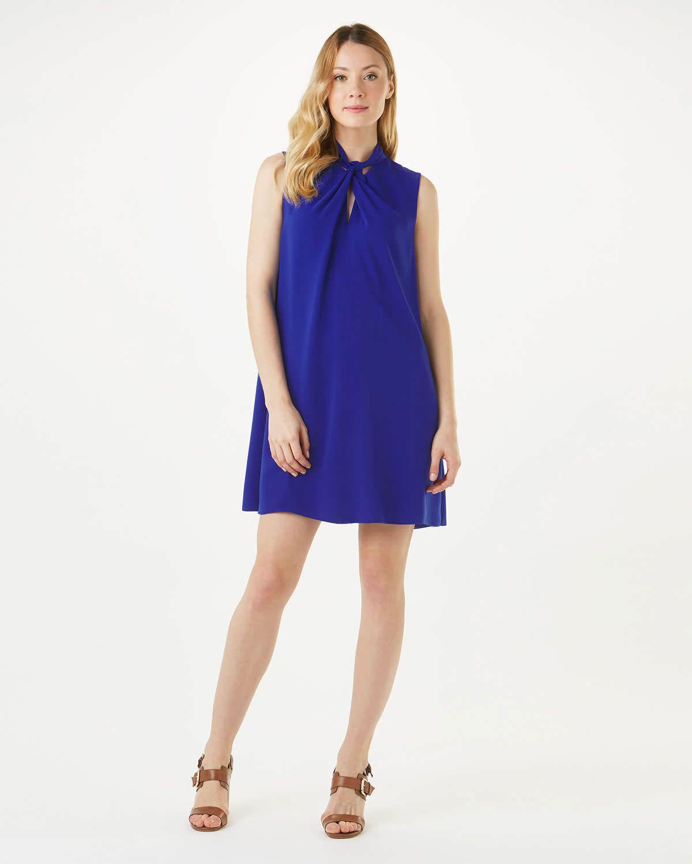 Phase eight nadine knot neck dress blue euro curvy fashion