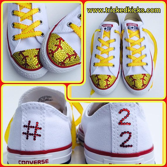 f9170e2f7ac6 MADE TO ORDER Womens low-top Converse shoes in softball style in your  choice of