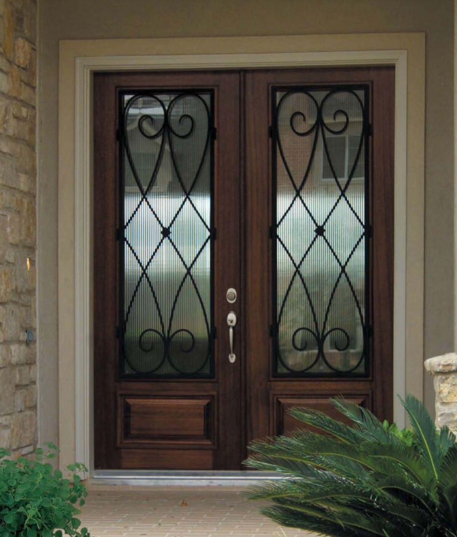 Doors Solid Wood Front Entry Double Doors With Double Door