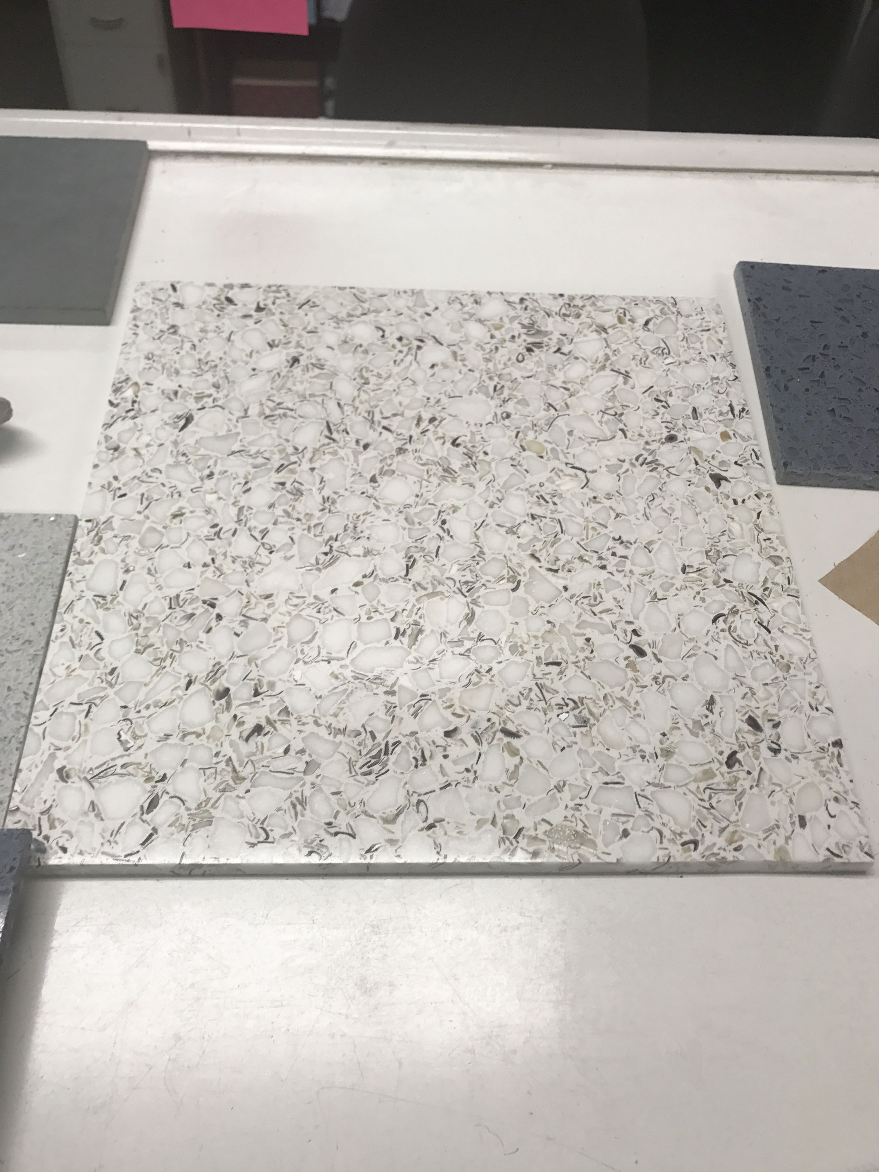Terrazzo Tile Designed By TERRAZZCO Featuring Large Size Venetian Chips Terrazzco Design Interiors Samples