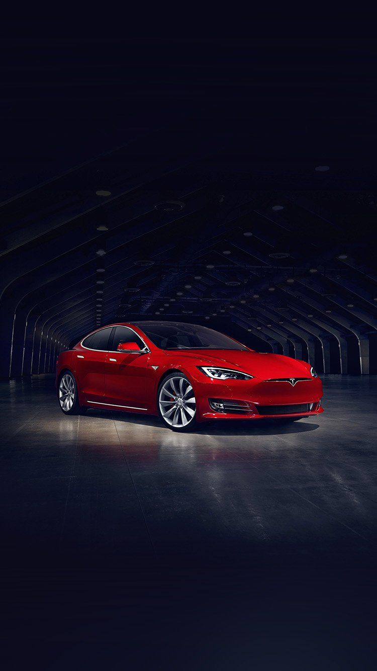 Tesla Model Red Car Wallpaper Hd Iphone Tesla Pinterest Cars