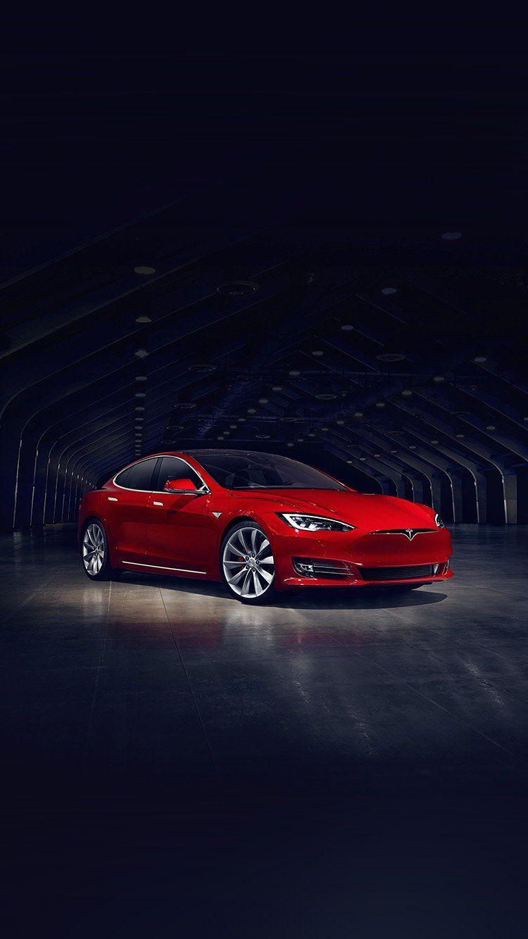 TESLA MODEL RED CAR WALLPAPER HD IPHONE | Tesla | Car iphone wallpaper, Car, Iphone wallpaper