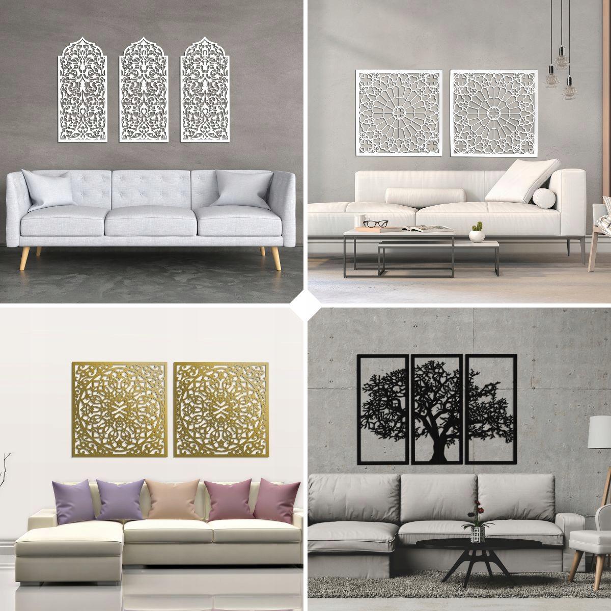 Dekoracyjne Panele 3d Obrazy Ażurowe Do Salonu Interior W