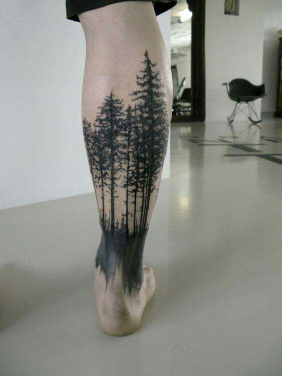 Pin De Emily Broyles En On Me Leg Tattoos Forest Tattoos Y Tattoos