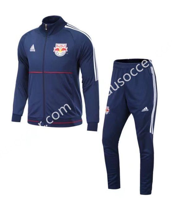 2017 18 New York Red Bulls Blue Thailand Soccer Jacket