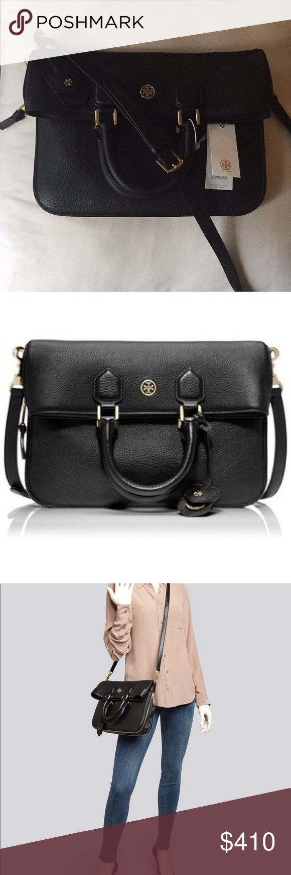 9442a229875 Tory Burch Robinson Pebbled Fold Over Messenger Sold out everywhere! Brand  new with tags!