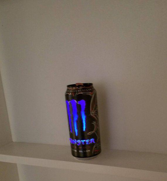 Freeship Monster Energy Drink Can Light Black Monster Energy Drink Monster Energy Can Lights