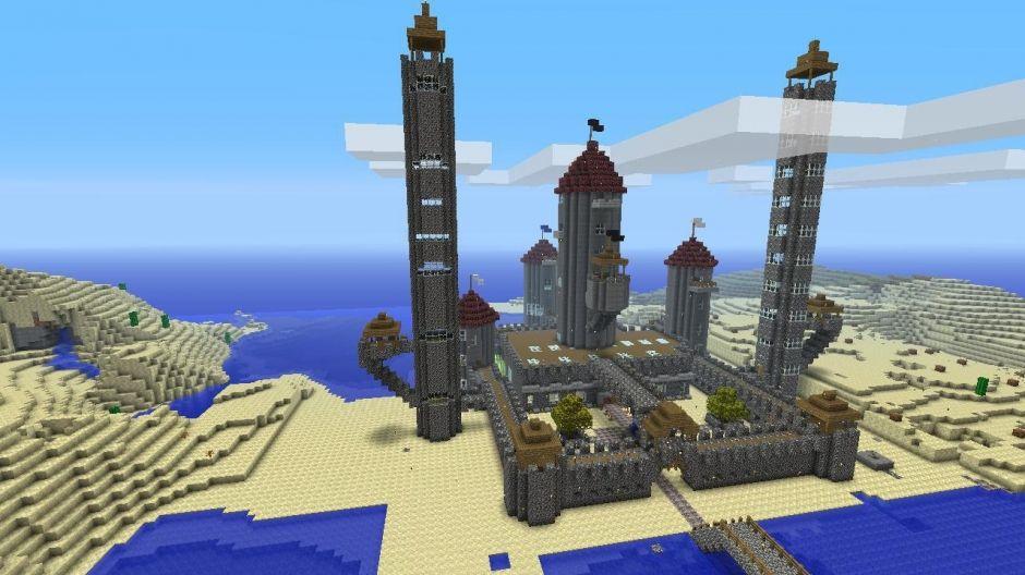 Castle built in minecraft xbox 360 edition. No mods no ...