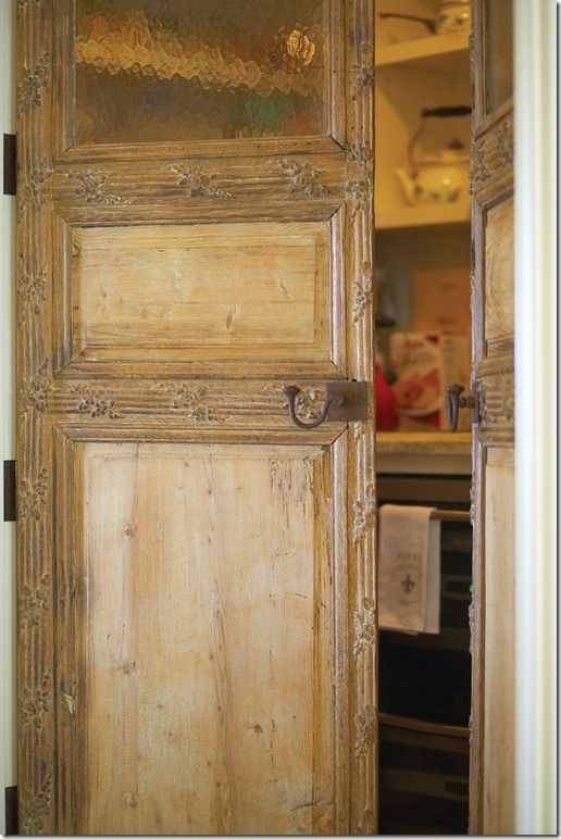 Pantry With Antique Doors Walk In Pantries Pinterest