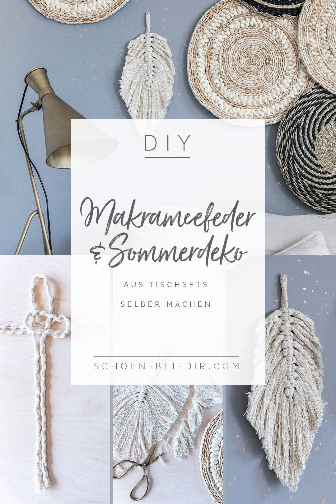 Photo of Fjæraktig DIY: Lag makraméfjær- og sommerpynt fra stedsmatter selv. # farvel …