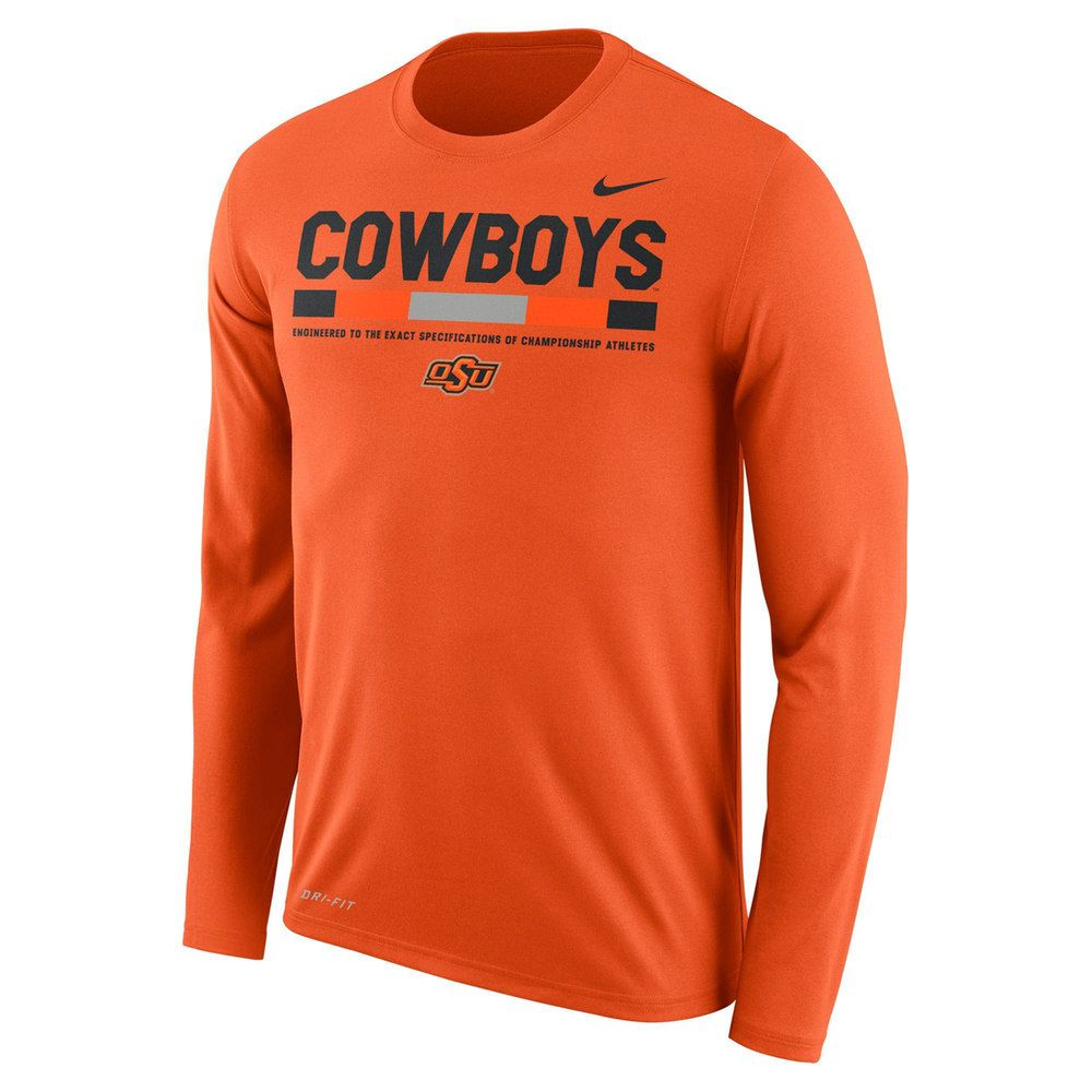 Men's Nike Oklahoma State Cowboys Dri-FIT Legend Staff Long-Sleeve Tee