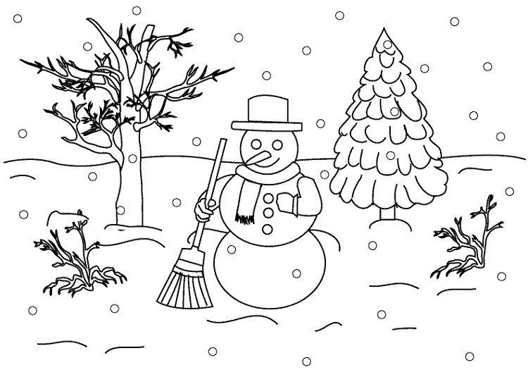 Winter Landscape Coloring Pages Coloring Pages Winter Christmas Coloring Pages Kids Christmas Coloring Pages