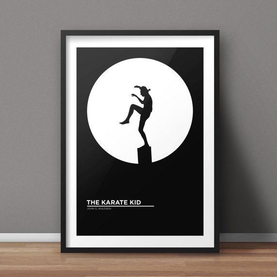 the karate kid poster movie poster minimalist poster flat poster design clean poster design. Black Bedroom Furniture Sets. Home Design Ideas