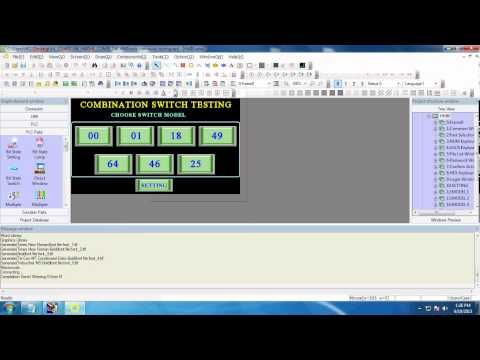 how to install hmi software and download it to hmi - YouTube | PLC