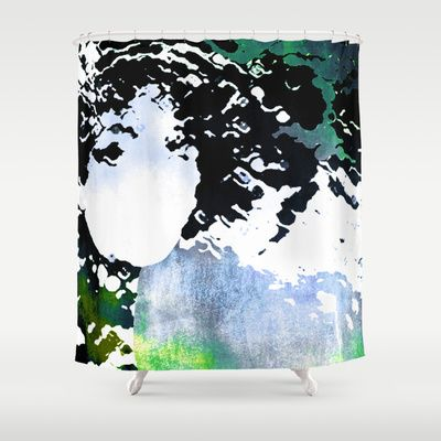 LADY-SILEX-13 Shower Curtain by Pia Schneider [atelier COLOUR-VISION] - $68.00 #art #illustration #painting #mixedmedia #surreal #face #femal #woman #abstraction #colourful #magenta #black #white #purple #turquoise #piaschneider #people #ateliercolourvision #modern #violet #figure #textures #character #lady #ladysilex #home #decor #bathroom #showercurtain #curtain #roomdecor