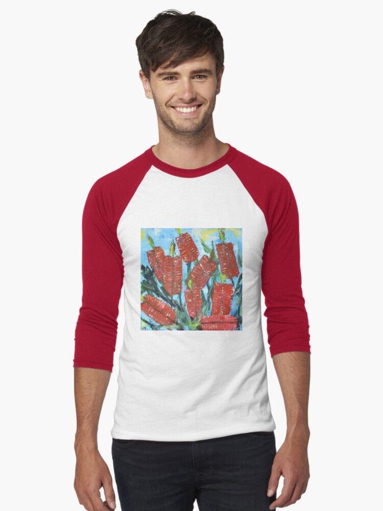 Rustic Flora Series – Rustic Bottle Brush   Slim Fit T-Shirt