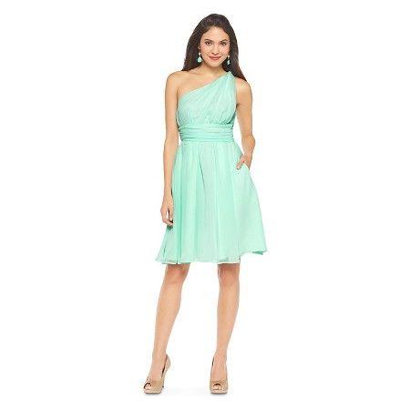 489c810d27f Women s Plus Size One Shoulder Chiffon Bridesmaid Dress Cool Mint 16W -  TEVOLIO™   Target