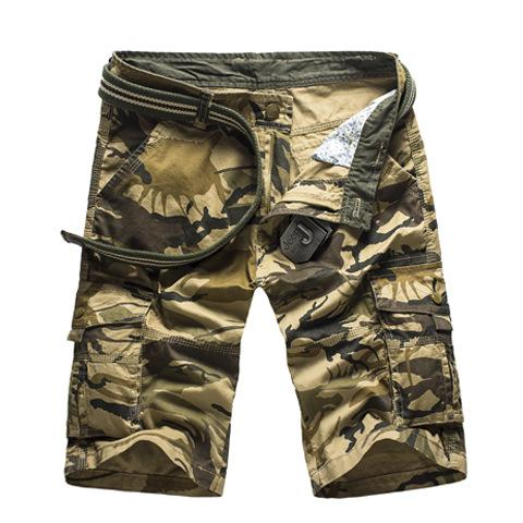 Men/'s Camo Cargo Shorts Military Army Camouflage loose Short Pants Casual Shorts