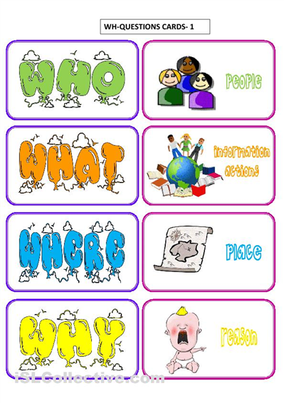 Declarative image throughout free printable wh questions worksheets
