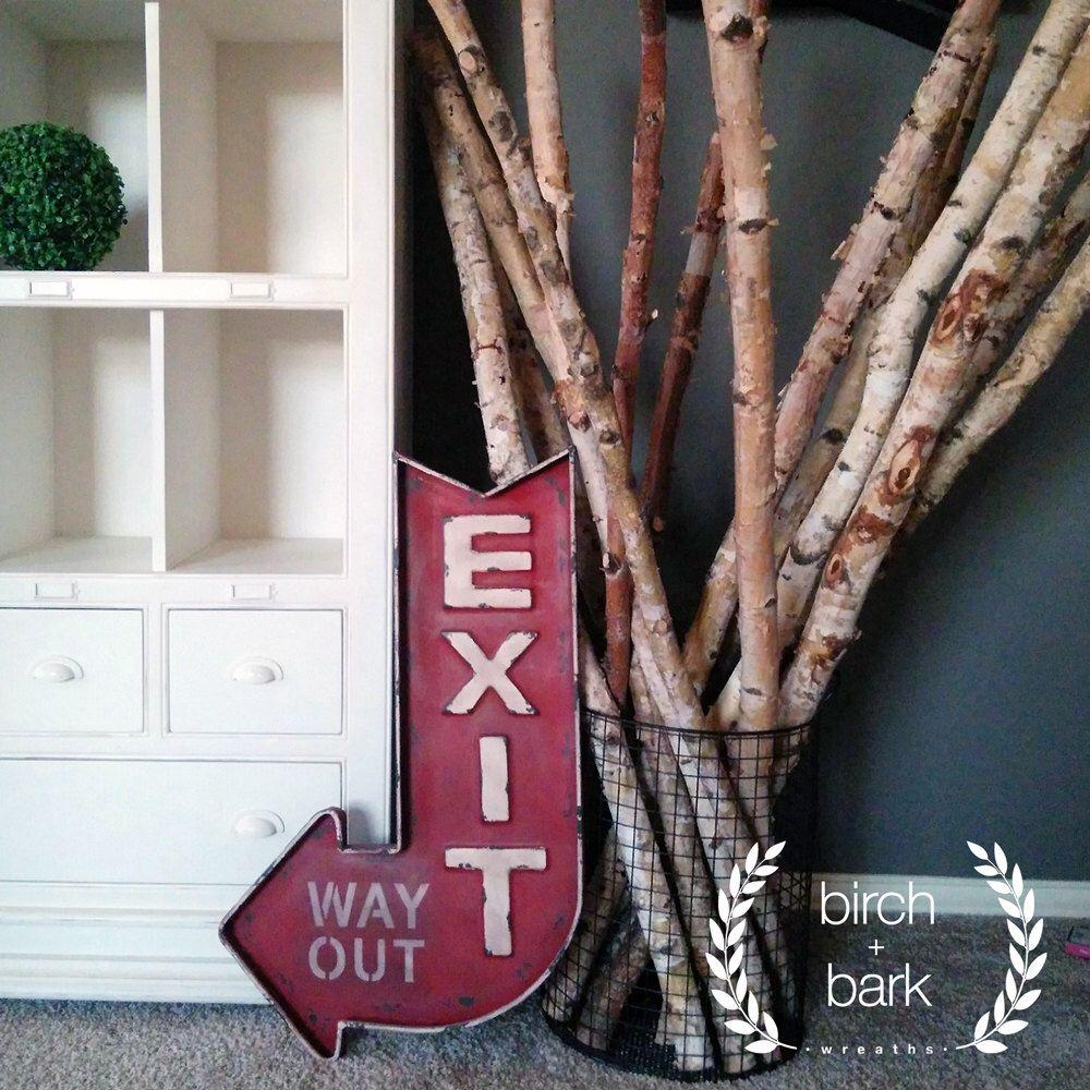 """Branche - bois bouleau - Birch Stick - bouleau - Birch Rod - 59"""" L bouleau bois branche de bouleau par BirchandBarkWreaths sur Etsy https://www.etsy.com/fr/listing/269000791/branche-bois-bouleau-birch-stick-bouleau"""