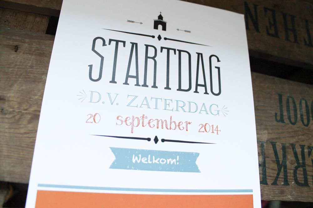 Startdag flyer van de kerk #church #kerk #flyer #design #leesign http://leesign.nl/portfolio/overig/