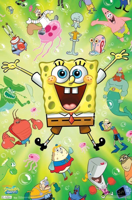SpongeBob - Burst Poster and Poster Mount Bundle - Walmart.com
