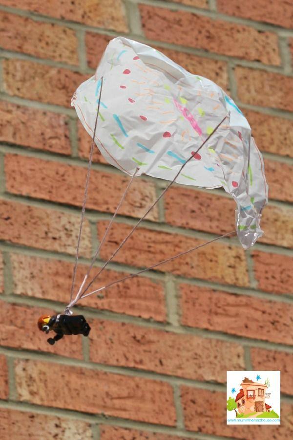 How To Make A Lego Minifigure Parachute Parachute Games For Kids Diy For Kids Parachute Games