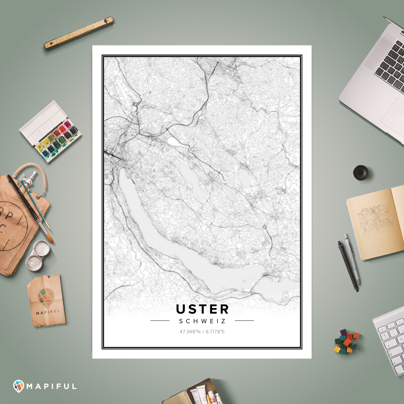 A map poster from Mapifulcom A creative DIY tool to make your own