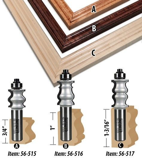 Frame Mirror Router Bits You Can Use On A Multitude Of Projects