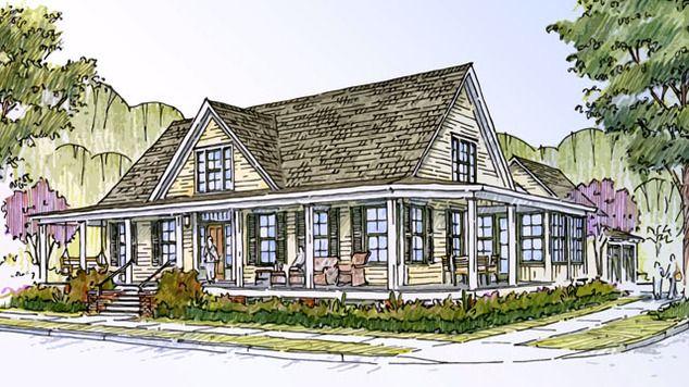 Farmhouse Revival Print Southern Living House Plans Southern Living House Plans Southern Living Homes Southern House Plans