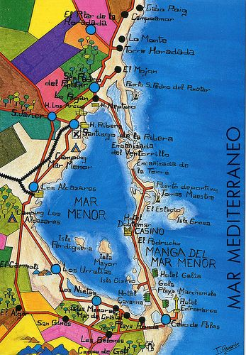 Map Of Spain La Manga.Mar Menor Map Card Murcia By Jordipostales Via Flickr Maps In