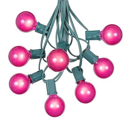 Novelty Outdoor String Lights G40 patio string lights with 25 pink globe bulbs hanging garden g40 patio string lights with 25 pink globe bulbs hanging garden string lights vintage workwithnaturefo
