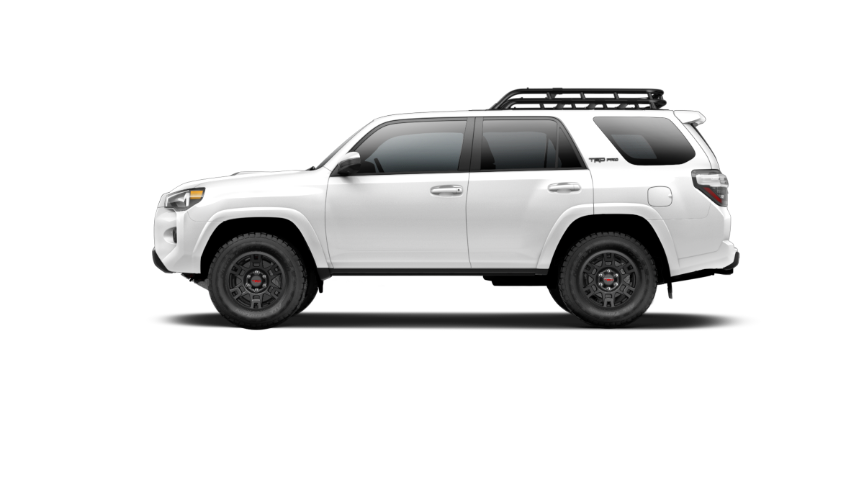 Your 2019 4Runner TRD Pro, Super White exterior, side