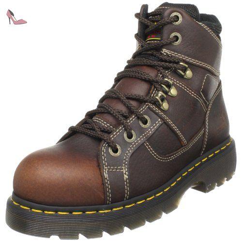 Dr. Martens Chaussure Bolt St Dentelle pour hommes, EUR: 45 EUR, Dark Brown Wyoming