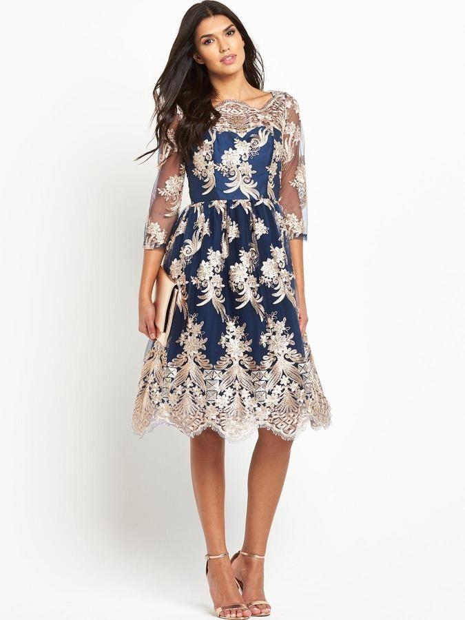 Chi Chi London Chi Chi London Bardot Lace Midi Prom Dress | Prom ...