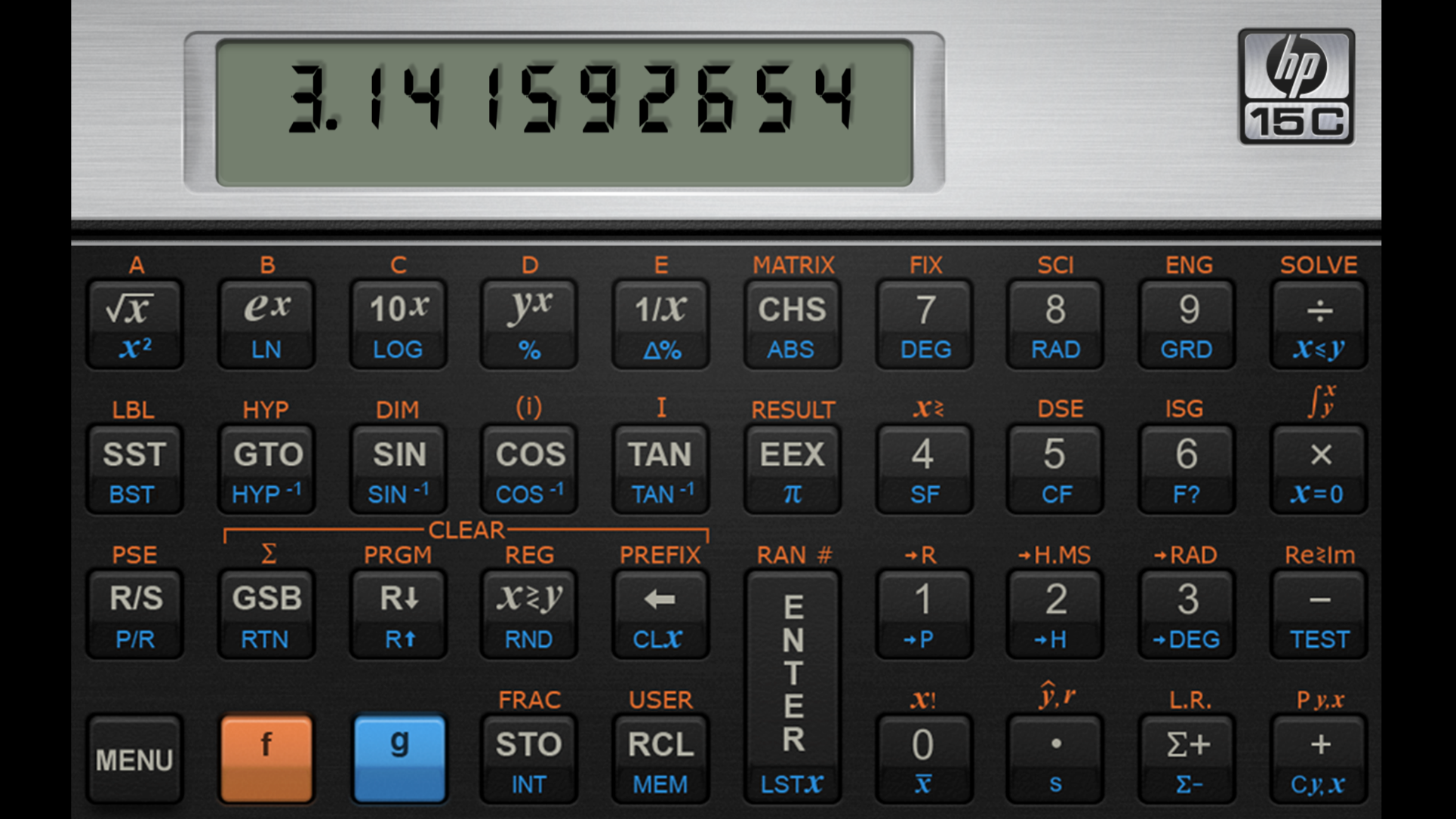 HP 15C Calculator iosBusinessappapps Calculator, Sin